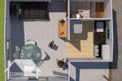 3D Planos Casa Prefabricada 20 metros cuadrados