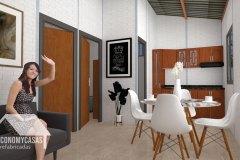 3D Planos Casa Prefabricada 36 metros cuadrados