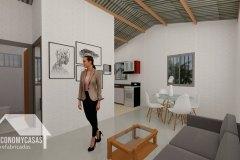 3D Planos Casa Prefabricada 56 metros cuadrados
