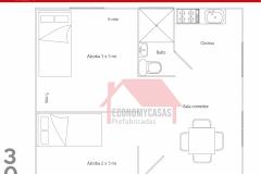 Planos Casa Prefabricada 30 metros cuadrados