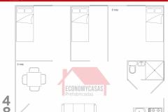 Planos Casa Prefabricada 48 metros cuadrados