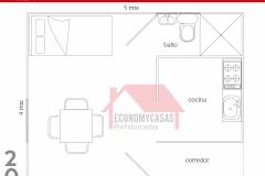 Planos Casa Prefabricada 20 metros cuadrados